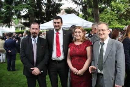 Com o Senhor Nuno Santos presidente da AACP, do Sr. Augusto Lopes jornalista e escritor e com o Professor Reto Monco.