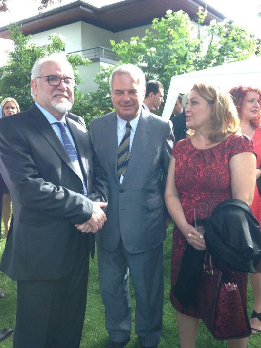 Com o Senhor Ministro do Trabalho, Solidariedade e Segurança Social José Vieira da Silva e o Senhor Cônsul-Geral de Portugal em Genebra, Dr. Miguel de Calheiros Velozo