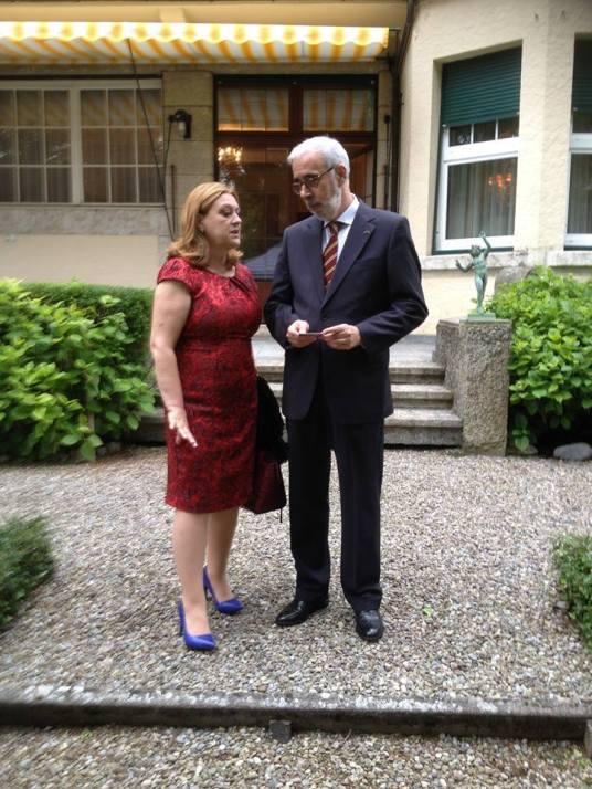 Com o Senhor Embaixador Paulo Tiago Fernandes Jerónimo da Silva