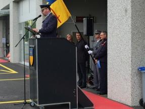 Discours de M. Florian Christe, Commandant des pompiers de PLO