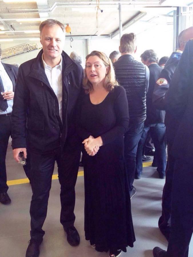 Avec M. Xavier Magnin, Maire de PLO (2015-2016)
