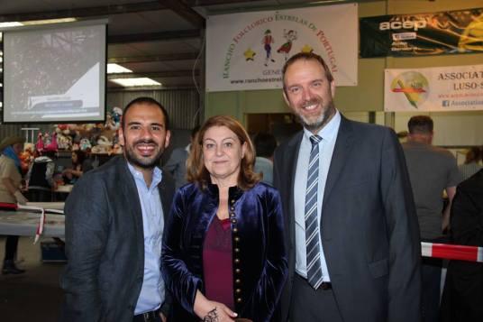 Com Miguel Limpo e Thierry Apothéloz, Maire de Vernier