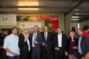Com o Senhor Ministro do Trabalho, Solidariedade e Segurança Social, José Vieira da Silva, Thierry Apothéloz, o historiador Flávio Borda d'Água nosso padrinho, e Manuela Bailão