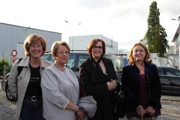 A nossa secretária Ana Maria Simões, com a Senhora Chanceler Maria Helena do Valle, Mariana Correia nossa madrinha e a Presidente de REAGIR